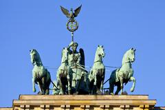 Brandenburg Gate Quadriga in Berlin - stock photo