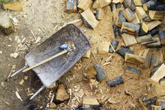 Stock Photo of chopped firewood