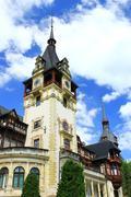 peles castle - stock photo
