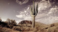 Time-lapse of the Superstition Mountains in Arizona, USA. Stock Footage