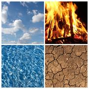The four elements Stock Photos