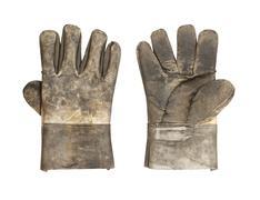 Dirty leather glove Stock Photos