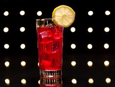 Red campari cocktail Stock Photos