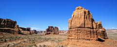 Stock Photo of panoramic view of famous red rock