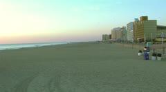 virginia beach sunrise - stock footage