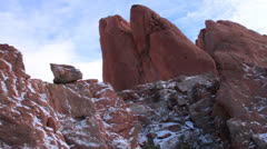 Garden of the Gods in the Winter Stock Footage