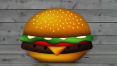 Assembling a Burger Stock Footage
