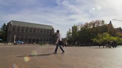 Time lapse University of washington red square Stock Footage