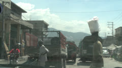 Streets of Haiti - stock footage