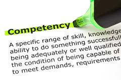 Competency definition Stock Photos