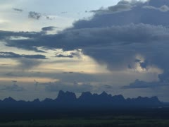 Landscape of clouds over mountaintops. Niassa Reserve, Mozambique. Stock Footage