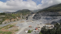 Big sand quarry in mountains Stock Footage