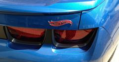 Hot Wheels special edition Chevy Camaro taillight Stock Photos