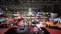 Stock Video Footage of Geneva Motor Show 2012