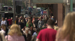 Crowds of Shoppers, Scotland.50Mbs Stock Footage