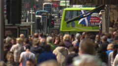 Scottish City Crowds UK, 50mbs Stock Footage