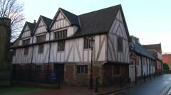 Tudor Style Guildhall Stock Footage