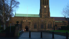 Leicester Cathedral - stock footage