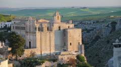 Church on a hill in Matera, Italy Stock Footage