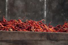 dry chili - stock photo