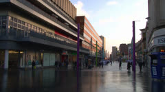 Modern City Centre Commercial Area Stock Footage