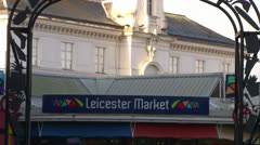 Leicester Market Stock Footage