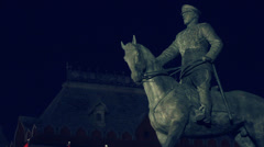 Red Square Statue Stock Footage