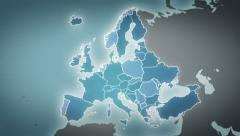 World map with European country maps. Stock Footage