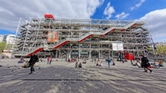 4K UHD The Pompidou cultural center in Paris, France Stock Footage