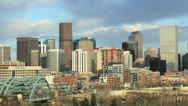 Stock Video Footage of Denver Skyline from west of the City