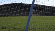 Soccer Goal Net Stock Footage