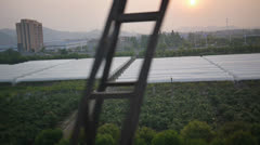 China countryside by train Stock Footage