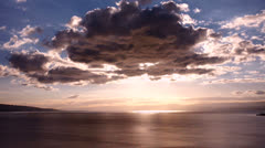 Cloud flowing on lake Geneva cloud Switzerland Stock Footage