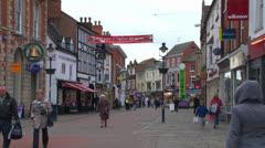 Melton Mowbray High Street Stock Footage