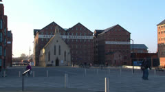 Gloucester Docks and Warehouses Stock Footage