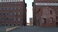 Double Brick Warehouse Buildings Stock Footage