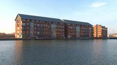 Dockyard Basin & Warehouses Stock Footage