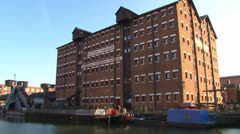 Gloucester Waterways Museum Building Stock Footage