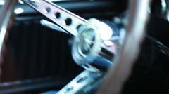 Driving the Mustang 4, snapzooms, handheld Stock Footage