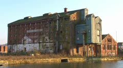 Old Disused Factory Building Stock Footage