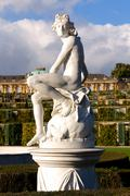 Statue at Sanssouci Palace in Berlin, Germany - stock photo