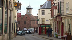Ross-on-Wye Market House Stock Footage