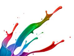 Colorful paint splash Stock Photos
