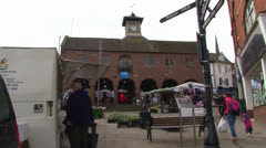 Market House and Square Stock Footage