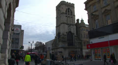 St Michael's Tower in Gloucester City Centre Stock Footage