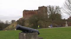 Tamworth Castle - stock footage