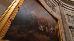 Declaration of Independence Painting inside the Capitol Rotunda - stock footage