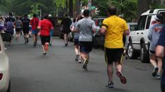Marathon runners backside - stock footage