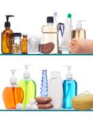personal hygiene products - stock photo