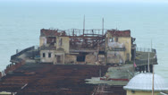 Stock Video Footage of Dilapidated Pier Pavilion.